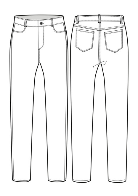 Womens High Waisted Jean sketch