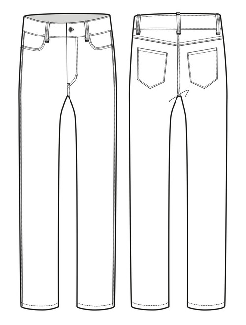 12002 Men's Slim Fit Jean sketch