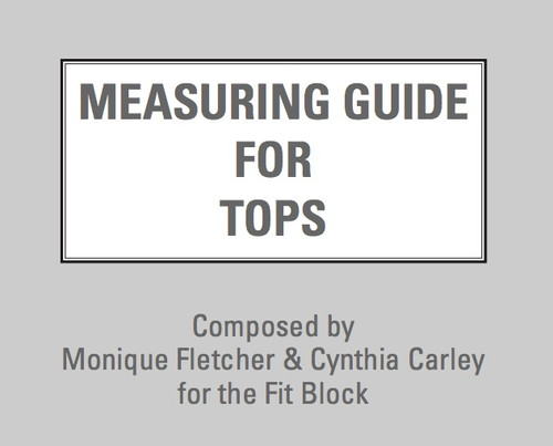 Measuring Guide for Tops manual