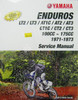 Genuine Yamaha Service Manual for Yamaha  Enduros