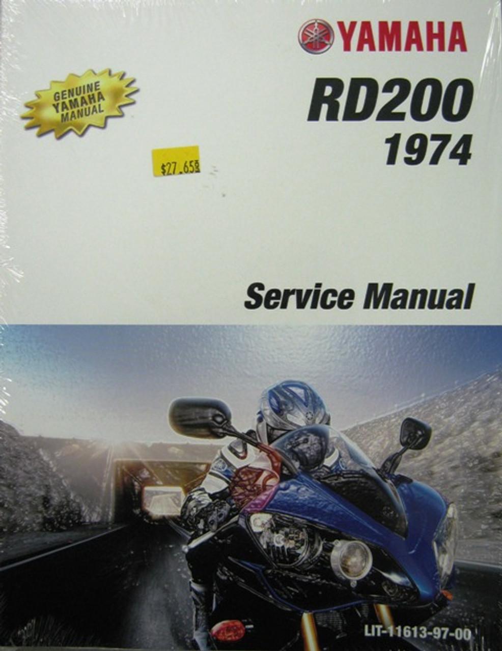 Genuine Yamaha RD200 Service Manual