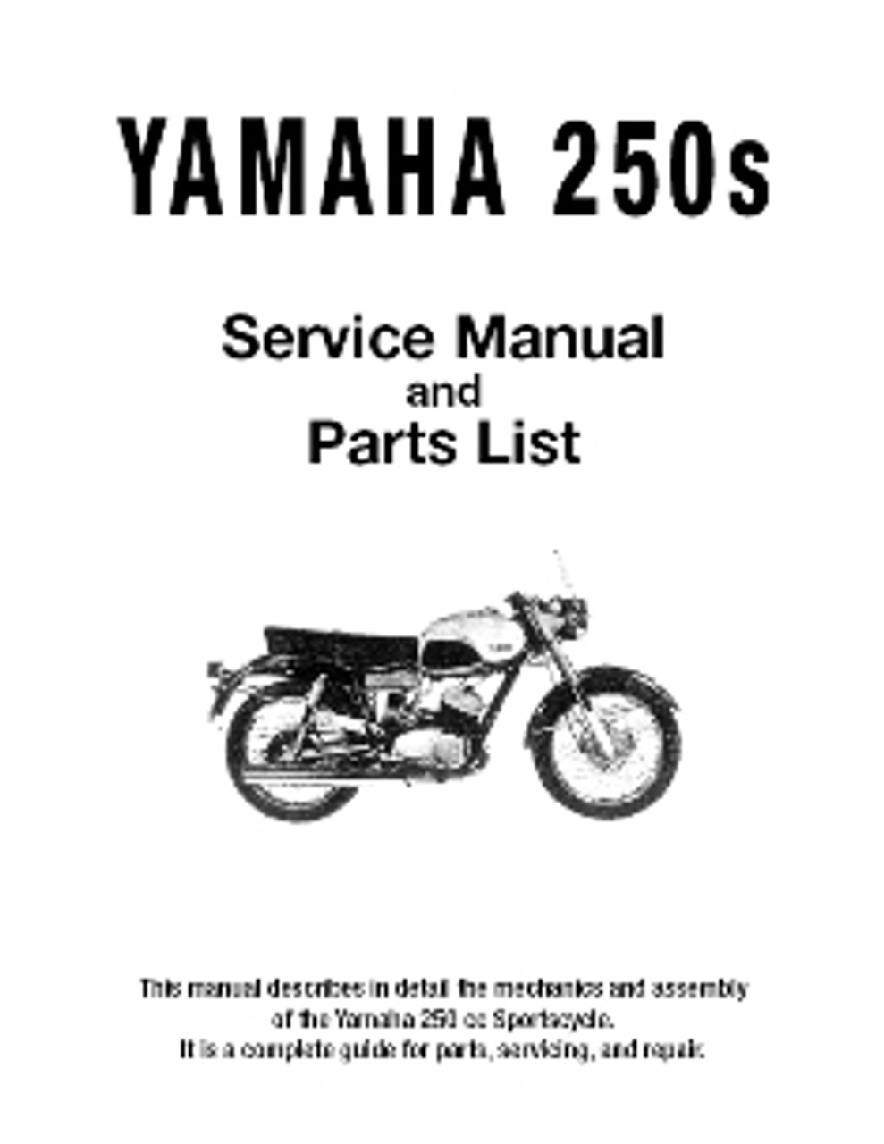 yamaha sports yds2 factory service and parts manual hvccycle rh hvccycle net Yamaha Yd2 Yamaha Yd2