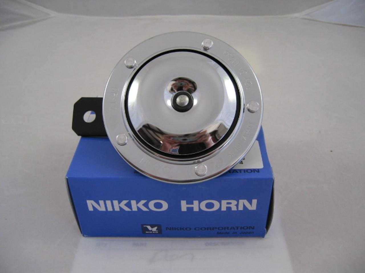 Horn Single 12 Volt Chrome, Nikko 21-0644