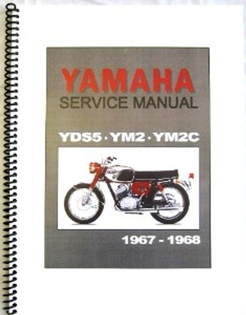 yamaha yds5, ym2, ym2c factory repair manual