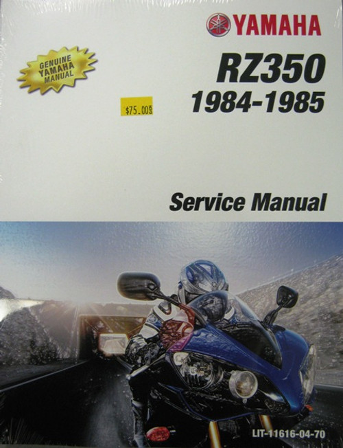 Genuine Yamaha Service Manual  Yamaha RZ350
