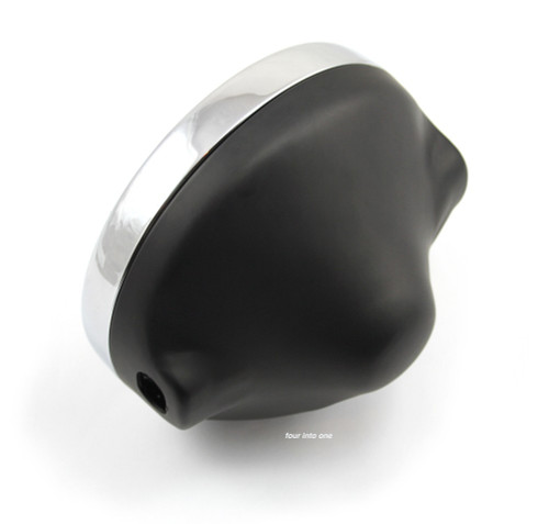"Kawasaki Replica 7"" Black Headlight Assembly"