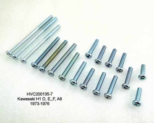 Kawasaki H1 D,E,F,A8  Phillips Screw Engine Side Cover Kit, HVC200135-7