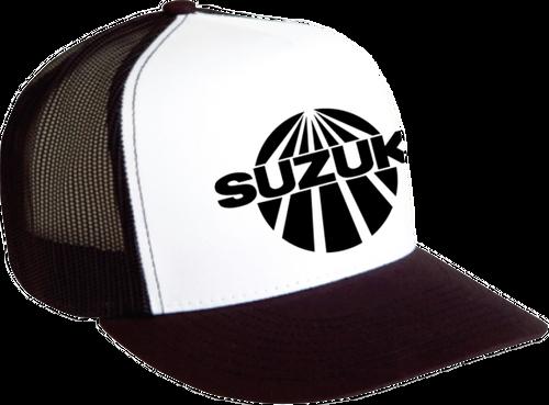 Vintage Suzuki Hat, Mesh  White and Black 2501-2328