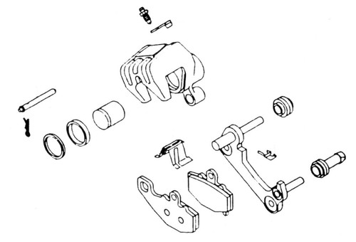 Yamaha XS Brake Caliper Rebuild Kit, 32-1250