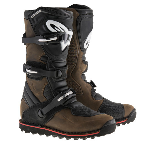 Alpinestars Tech T boots. Brown Oiled