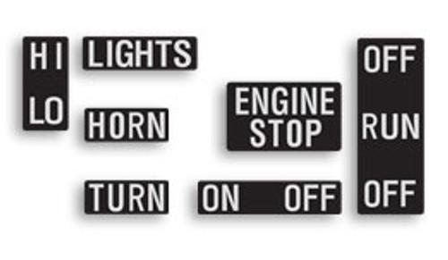 Yamaha RD250, RD350 Handlebar Control Decal Set HVC20087-11
