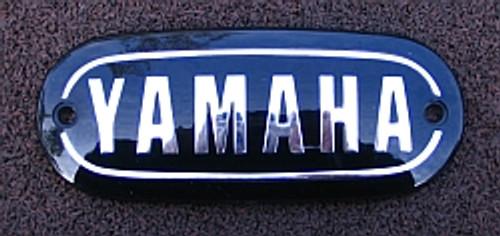 Yamaha DT1, RT1, DS6, YR3,   Black Fuel Tank Badge, 211-24161-00-00, YT18