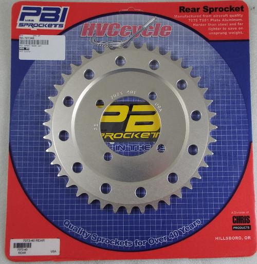 PBI Aluminum Rear Sprocket 530-40, RD, R5 DS6, DS7, YR1,2,3, 7073-40