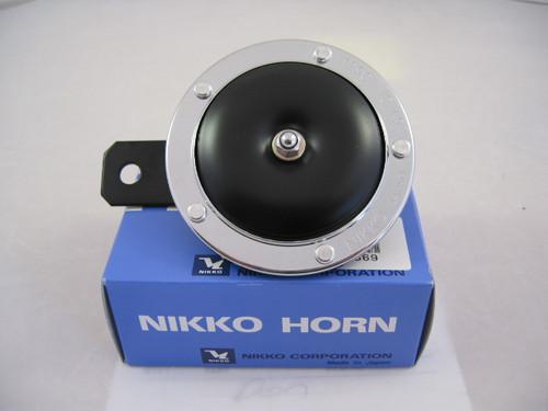 Horn, Single Black 12 Volt, Nikko