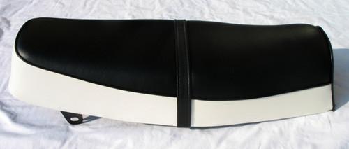 yamaha yds3 / yds3c / yds5 / ym1 / ym2c 1965-1969 black and white seat cover