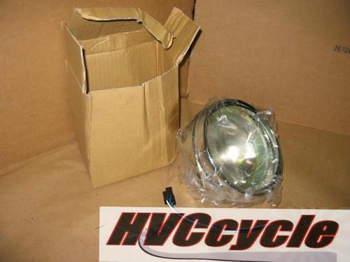 EMGO Headlight Unit For Kawasaki (Chrome Shell, Rim & Retainer)