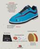 3G Women's Sport Ultra Bowling Shoes - Teal/Purple - package