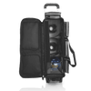 Storm Rolling Thunder 3 Ball Roller bowling bag -Plaid/Grey/Black - open