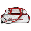 Vise 3 Ball Tote Roller with Shoe Pouch White/Red