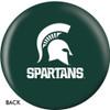 OTBB Michigan State University Bowling Ball back