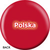 OTBB Polish Flag Bowling Ball back
