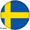 OTBB Swedish Flag Bowling Ball front