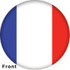 OTBB French Flag Bowling Ball front