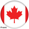 OTBB Canadian Flag Bowling Ball front