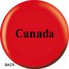 OTBB Canadian Flag Bowling Ball back