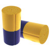 Vise Bowling Insert - Duo Urethane Thumb Slug - Yellow/Purple