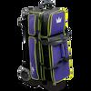 Brunswick Crown Deluxe Triple Roller Bowling Bag - Purple/Yellow