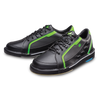 Brunswick Punisher Mens Bowling Shoes Black/Neon Green left
