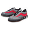 Brunswick Rampage Mens Bowling Shoes Grey/Red left side