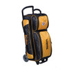 KR Strikeforce NFL Pittsburgh Steelers Triple Roller Bowling Bag left