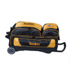 KR Strikeforce NFL Pittsburgh Steelers Triple Roller Bowling Bag laying down