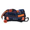 KR Strikeforce NFL Denver Broncos Triple Roller Bowling Bag shoe detail