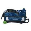 KR Strikeforce NFL Seattle Seahawks Triple Roller Bowling Bag shoe detail