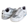 Brunswick Phantom Mens Bowling Shoes - White/Silver Carbon Fiber - Right Handed - shoes on angle