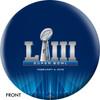 OTTB New England Patriots Bowling Ball Super Bowl 53 Champions front