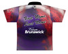 Brunswick Bowling Jersey by Logo Infusion - 0291BR - Back of Jersey with Sample Text