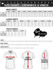 Size Chart for Crew Neck and V-Neck Collar