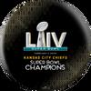 OTTB Kansas City Chiefs Bowling Ball Super Bowl 54 Champions - Black - Front
