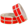 """Turbo Red Slick Strips 3/4"""" Bowling Tape - 500 Roll"""