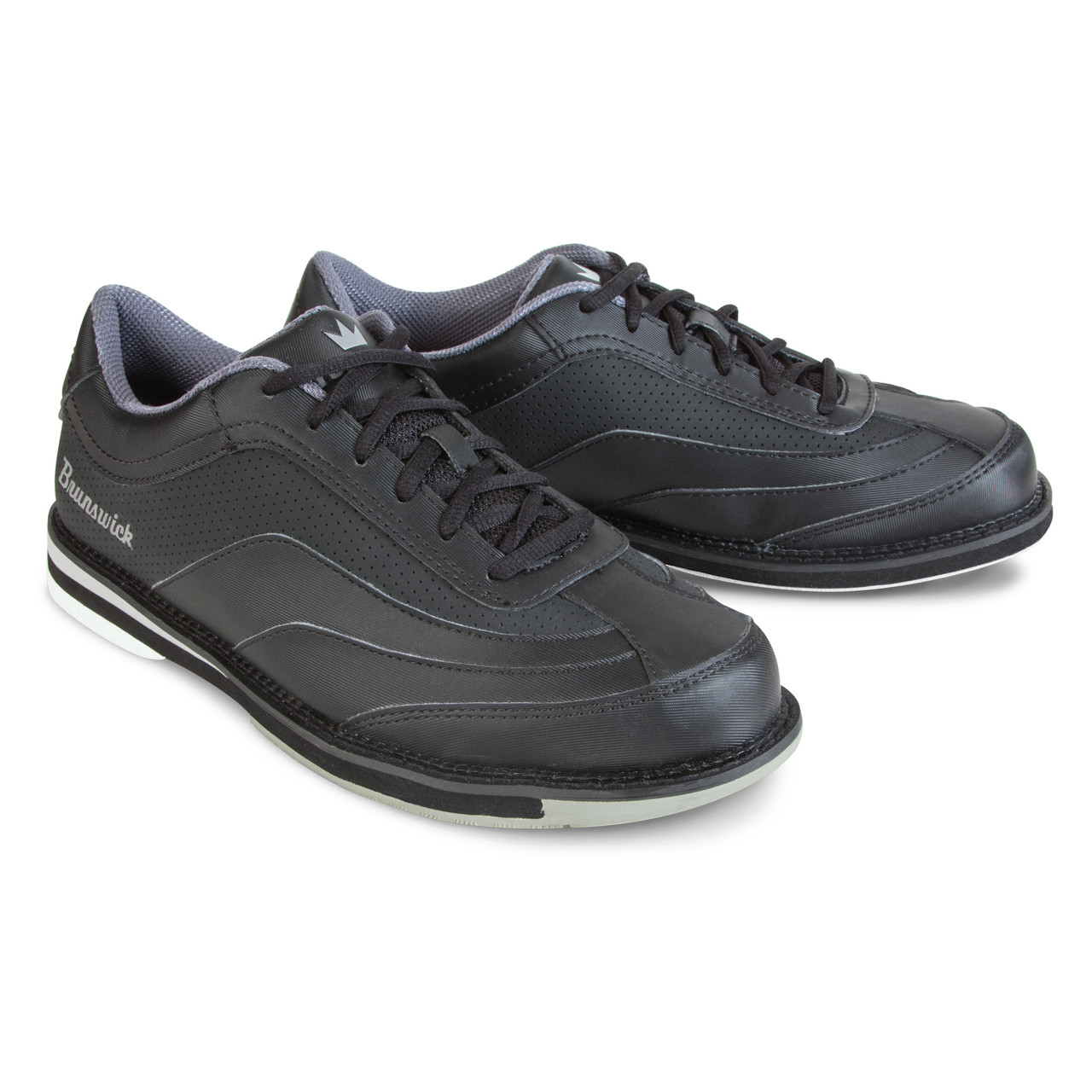 Grey//Red Brunswick Mens Rampage Bowling Shoes Right Hand