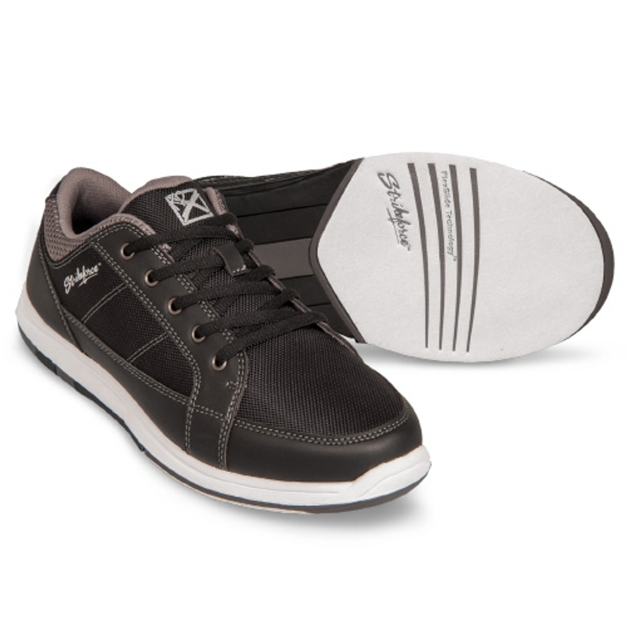 Black//Charcoal KR Strikeforce Mens Spartan Bowling Shoes