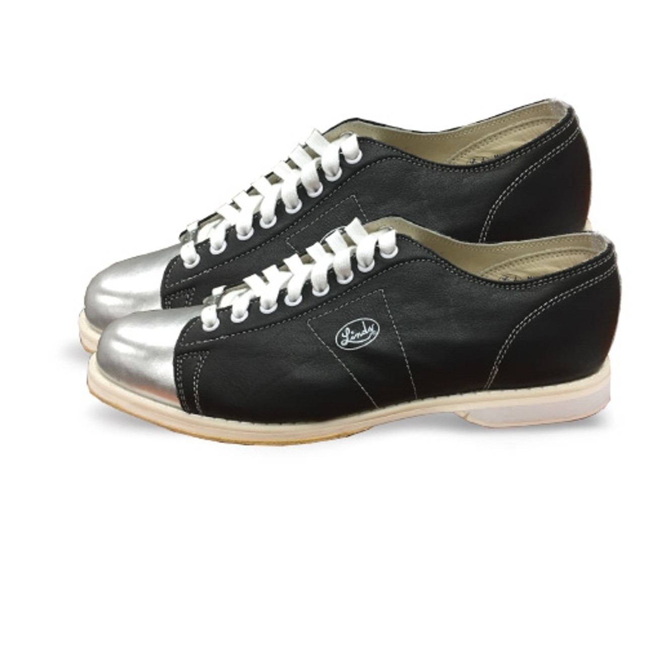 aa6b79ecf4e Linds Special Edition Mens Bowling Shoes Black with Silver Toe Tongue and  Backstay