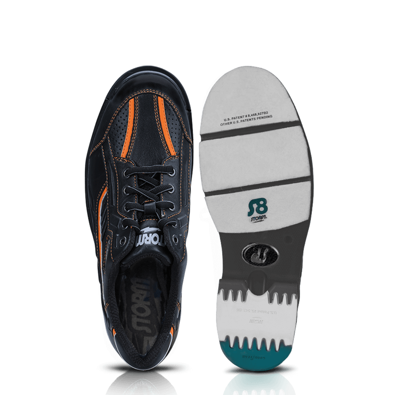 size 40 0a4e4 96a93 ... Storm SP3 Mens Bowling Shoes Black Orange - top and bottom