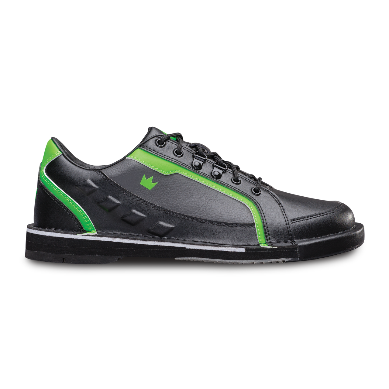 e1e9d7a71bc1f0 ... Brunswick Punisher Mens Bowling Shoes Black/Neon Green Right Handed  Wide ...
