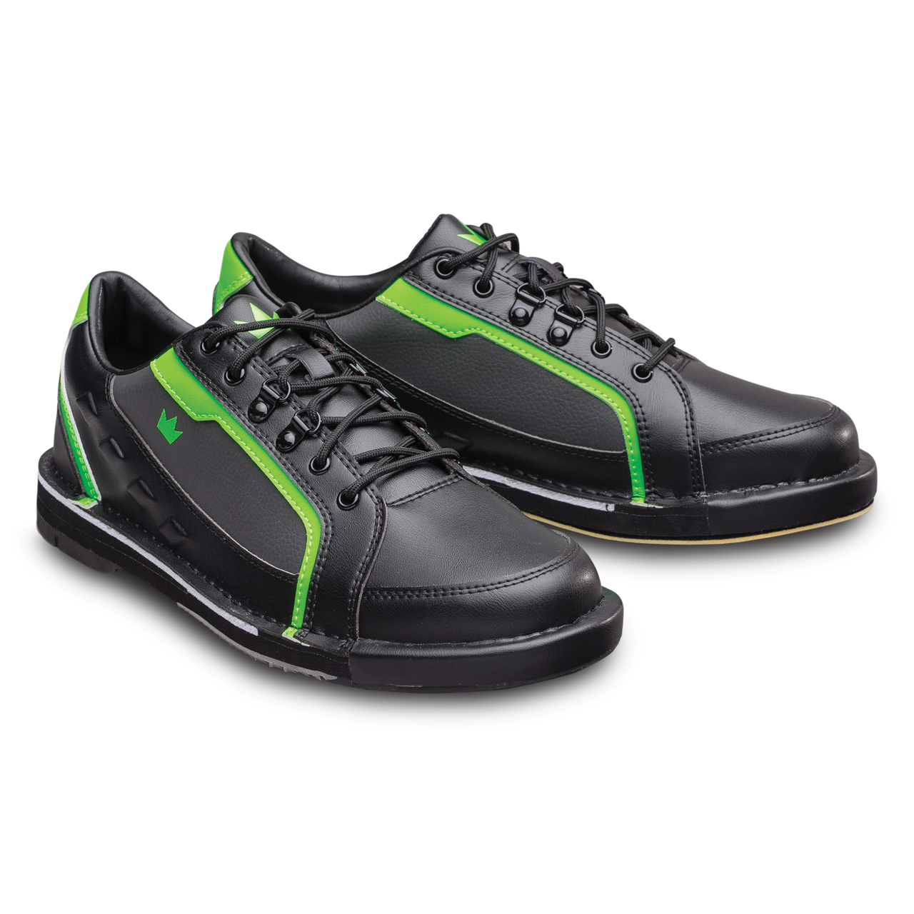 05cbcb638cfce0 Brunswick Punisher Mens Bowling Shoes Black/Neon Green Right Handed ...