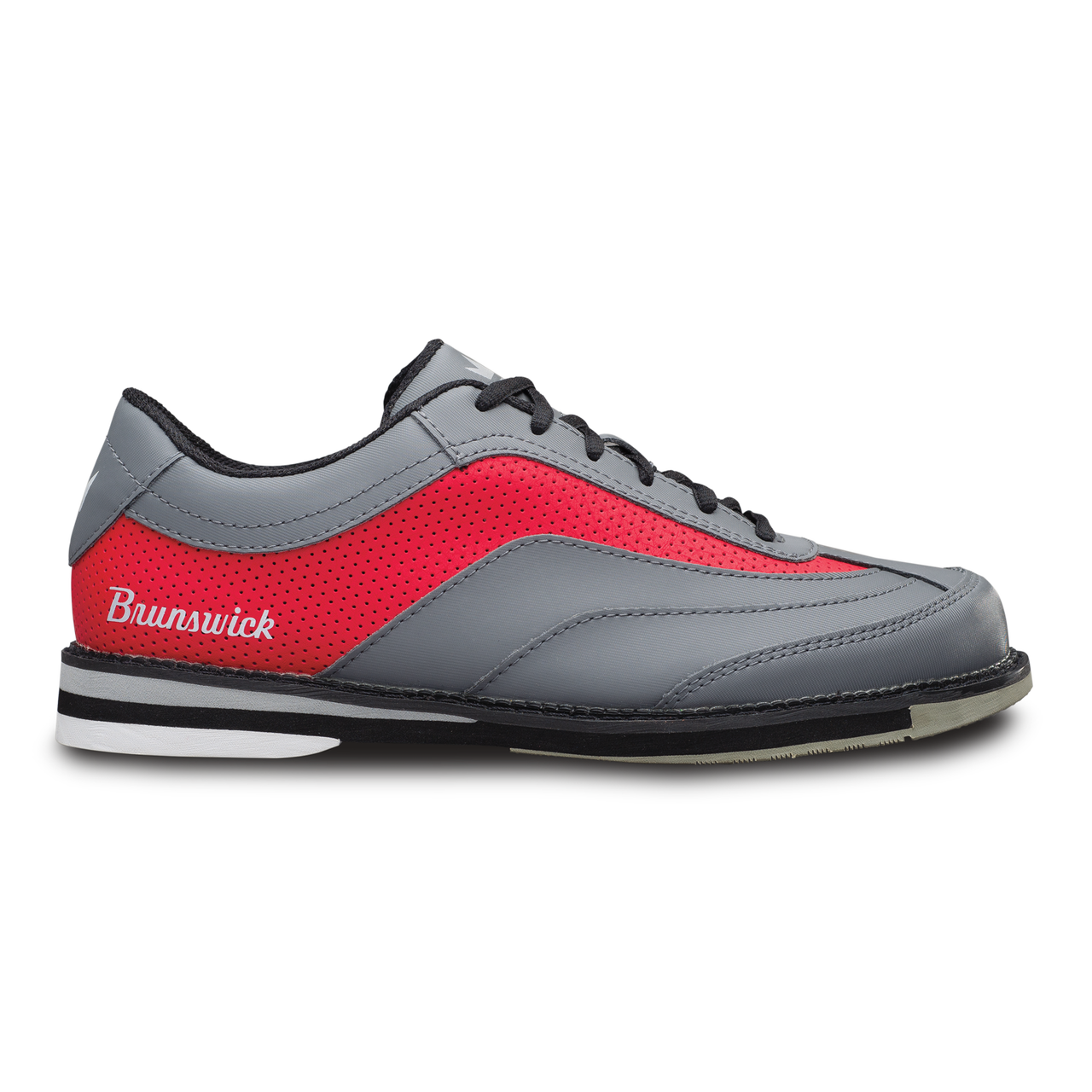 Brunswick Rampage Grey//Red Men/'s LEFT HAND Bowling Shoes